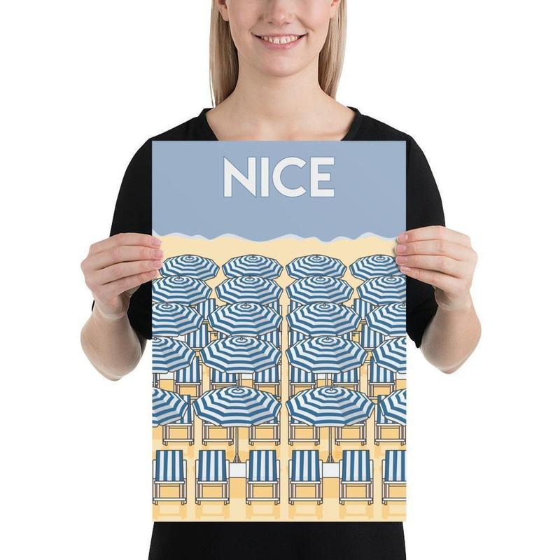 Nice French Riviera Poster-Posters-Flash of Culture™