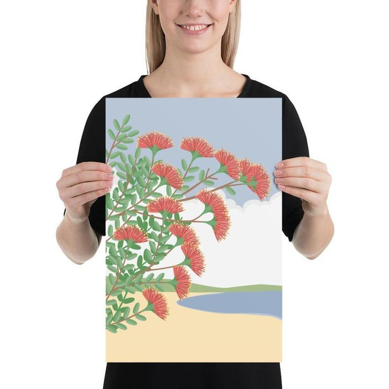 Pohutukawa Poster-Posters-Flash of Culture™