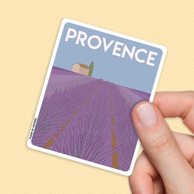 Provence France Sticker, Lavender Fields France-Stickers-Flash of Culture™