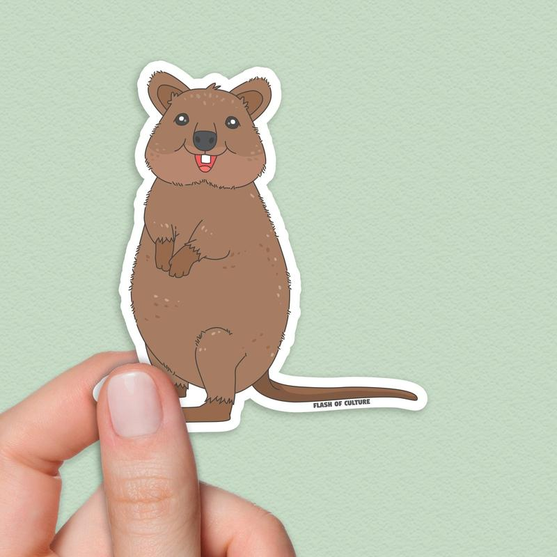 Quokka Sticker, Australian quokka sticker-Stickers-Flash of Culture™