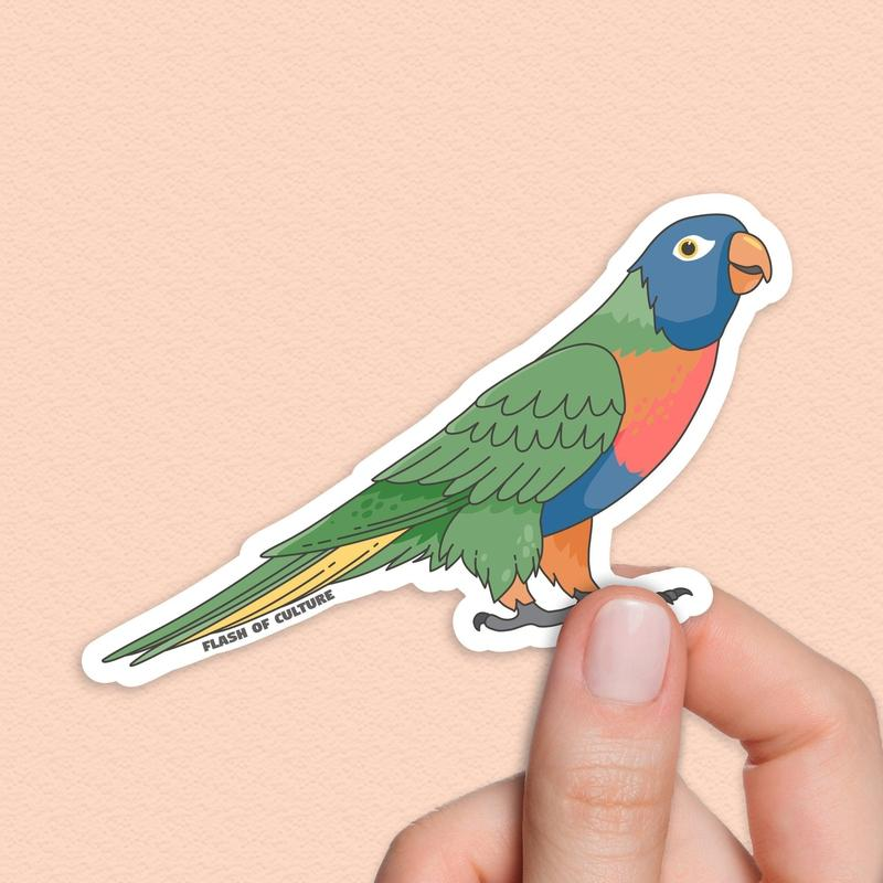 Rainbow lorikeet sticker, Australian bird sticker-Stickers-Flash of Culture™