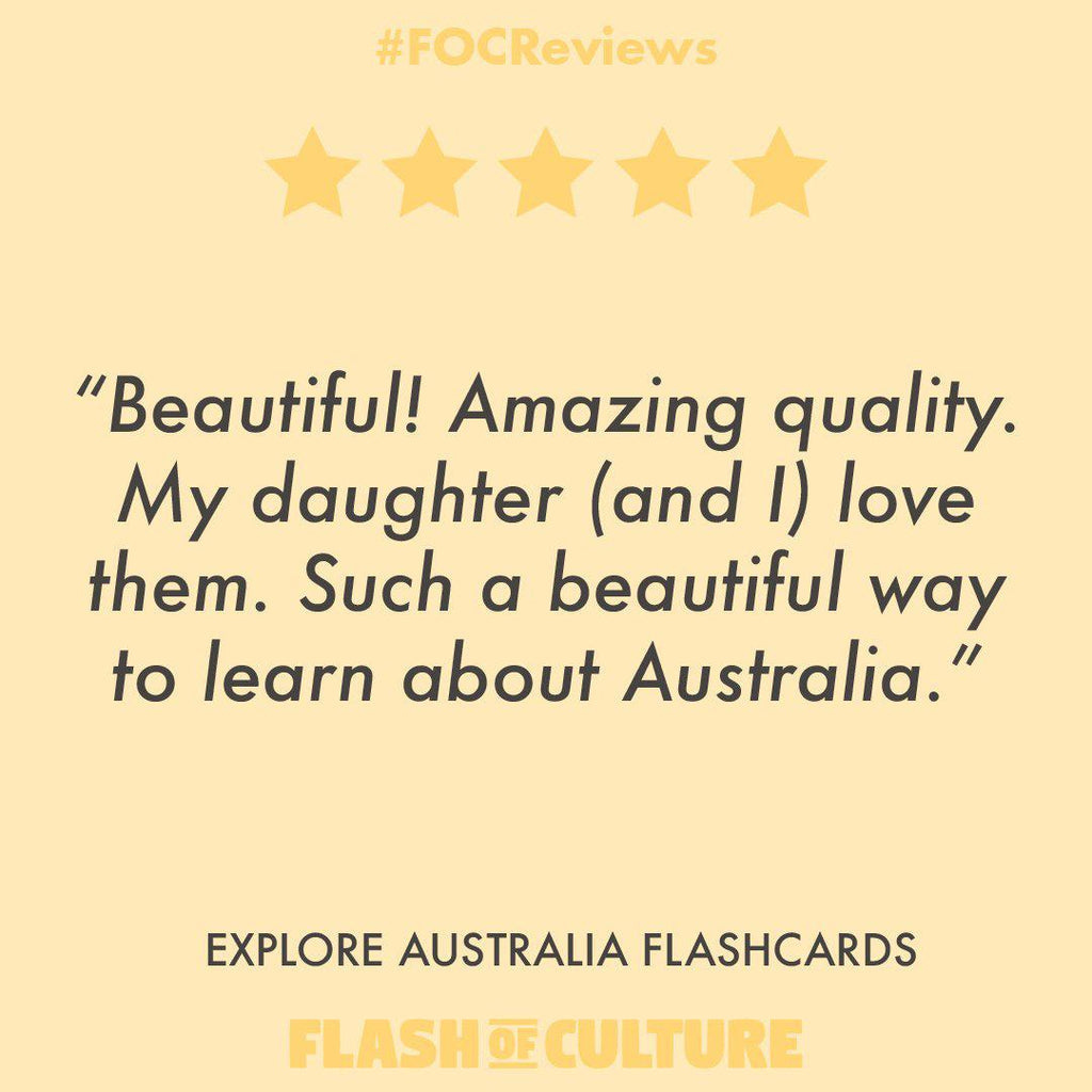 Australian Themed Flashcards - Explore Australia Flashcards-Flashcards-Flash of Culture™