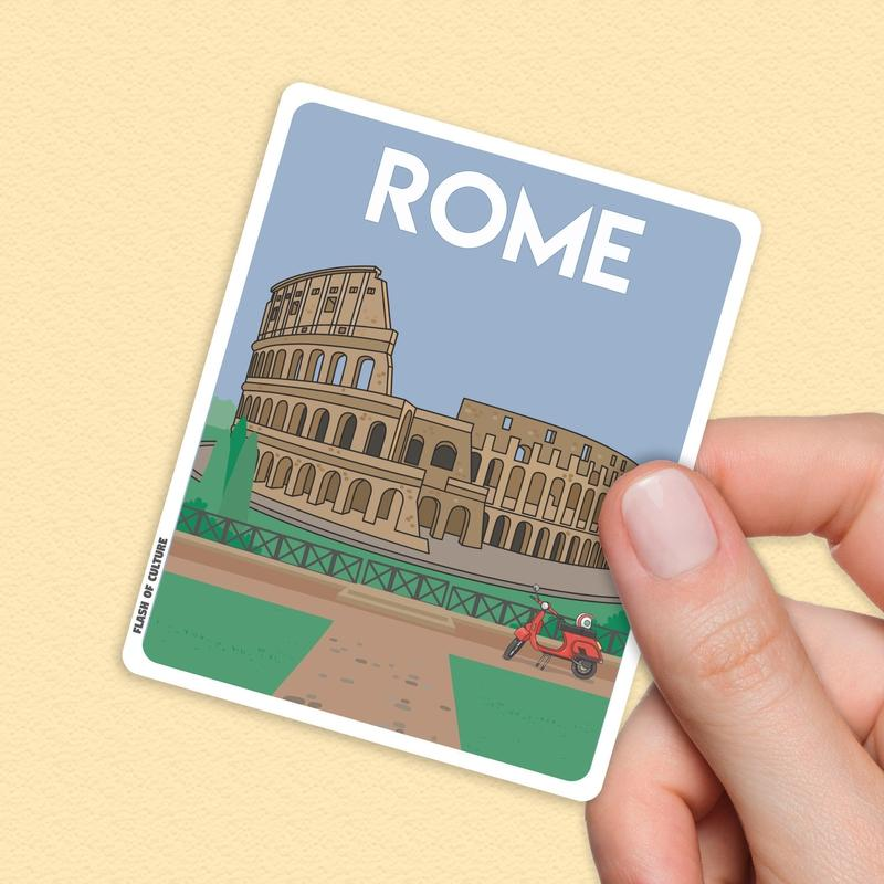 Rome Italy Sticker, Rome stickers, Rome Italy-Stickers-Flash of Culture™