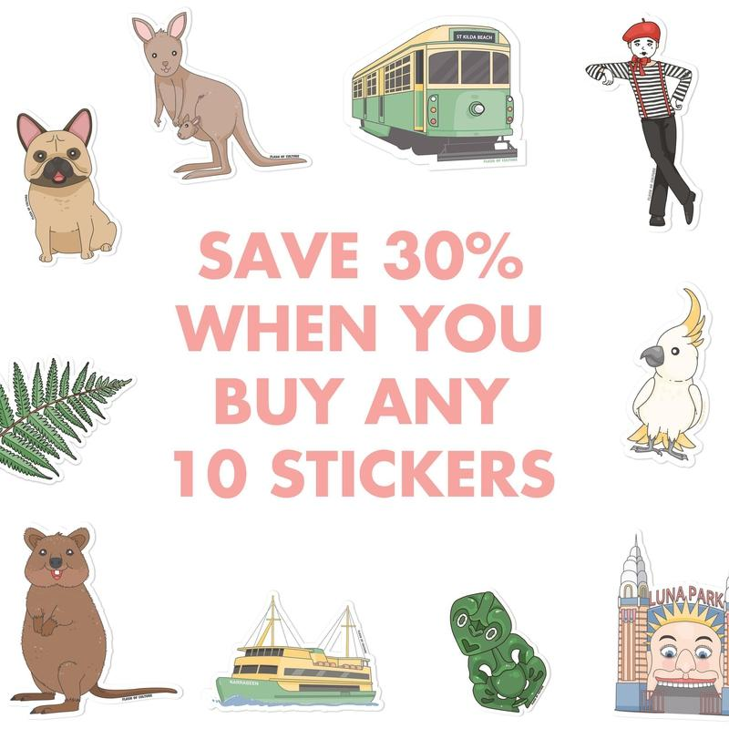SAVE 30% when you buy 10 quality vinyl stickers-Stickers-Flash of Culture™