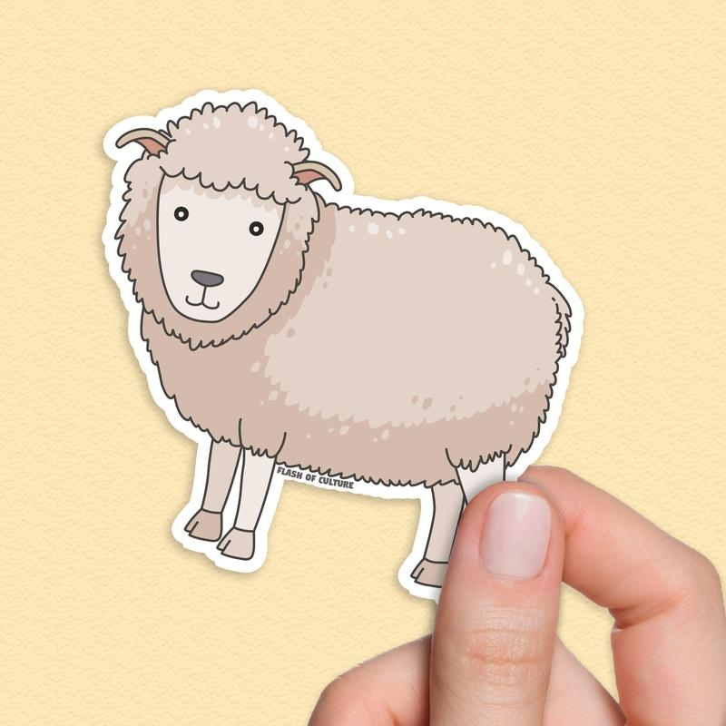 Sheep sticker, New Zealand Sheep Stickers-Stickers-Flash of Culture™