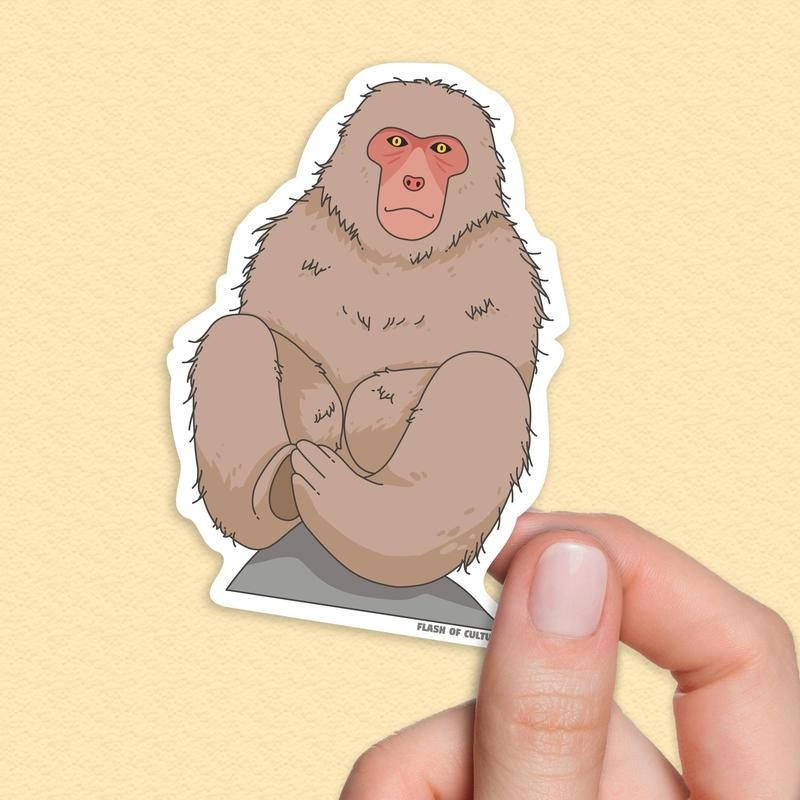 Snow monkey sticker, Japanese stickers-Stickers-Flash of Culture™