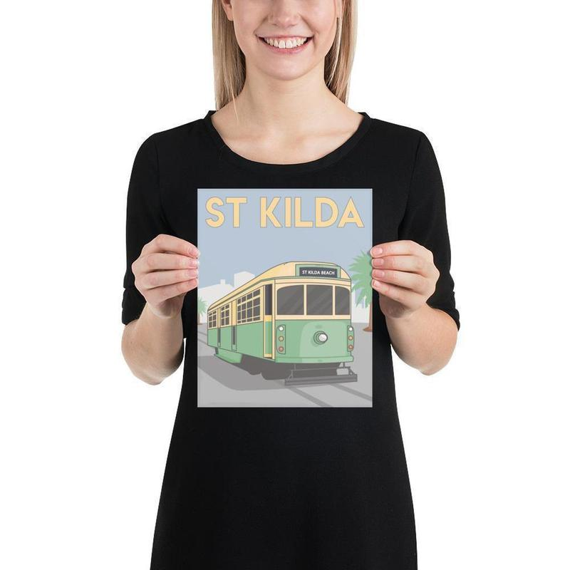 St Kilda Melbourne Tram Poster Art-Posters-Flash of Culture™