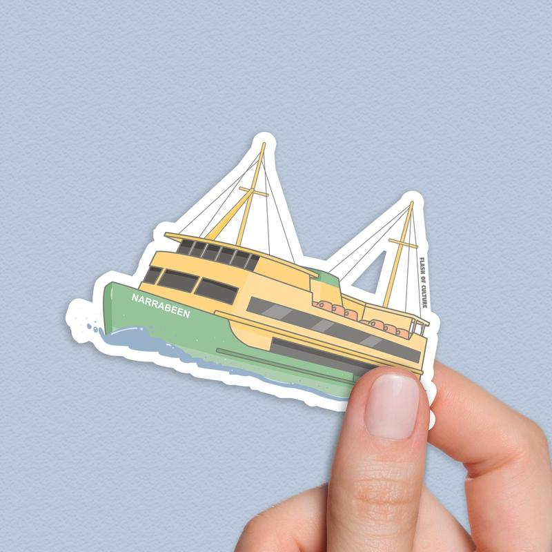 Sydney Ferry Sticker, Australian stickers-Stickers-Flash of Culture™