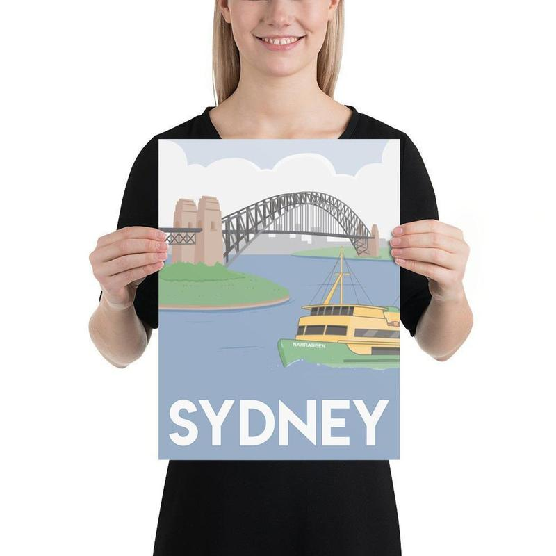 Sydney Harbour Poster-Posters-Flash of Culture™