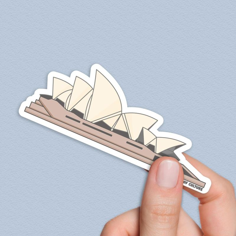 Sydney Opera House Sticker, Opera House Sticker-Stickers-Flash of Culture™