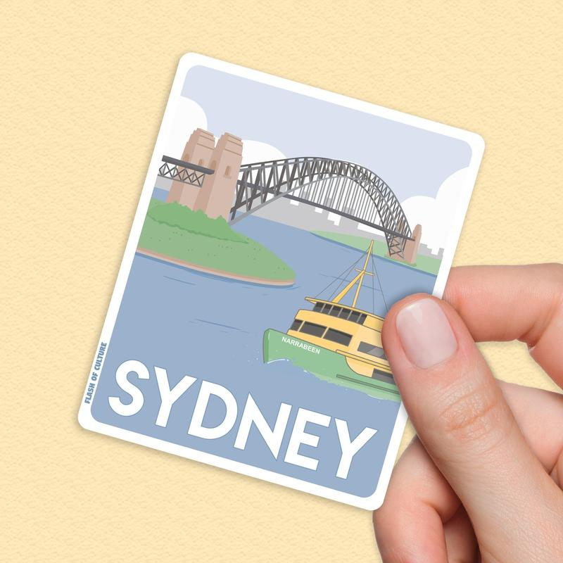 Sydney Travel Sticker - Australian waterproof stickers-Stickers-Flash of Culture™
