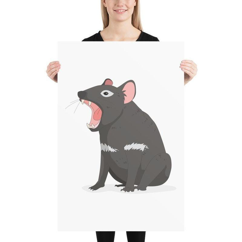 Tasmanian Devil Poster Art-Posters-Flash of Culture™