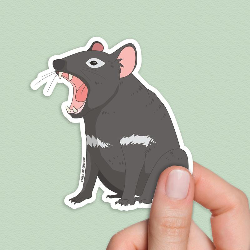 Tasmanian Devil sticker, Tassie Devil sticker-Stickers-Flash of Culture™