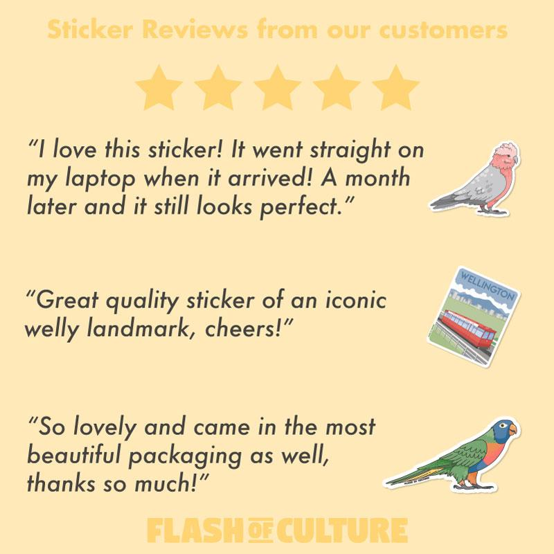 Tui Bird sticker, New Zealand Stickers-Stickers-Flash of Culture™