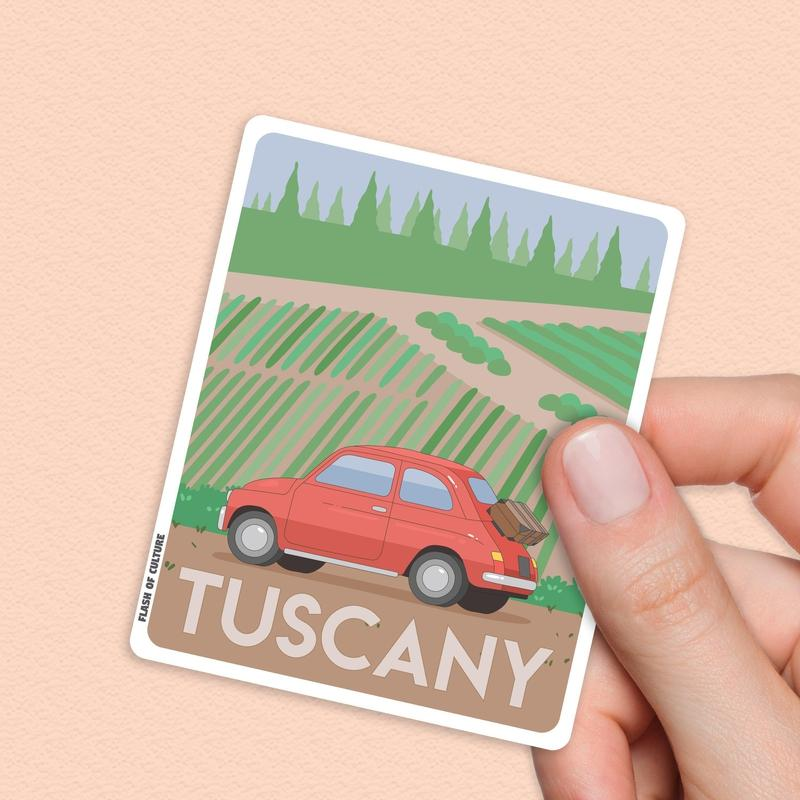 Tuscany Italy Sticker, Italian travel stickers-Stickers-Flash of Culture™