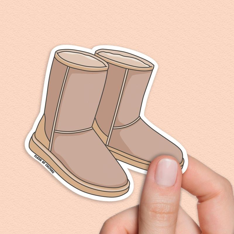 Ugg Boots Sticker, Uggs Sticker, Aussie Stickers-Stickers-Flash of Culture™