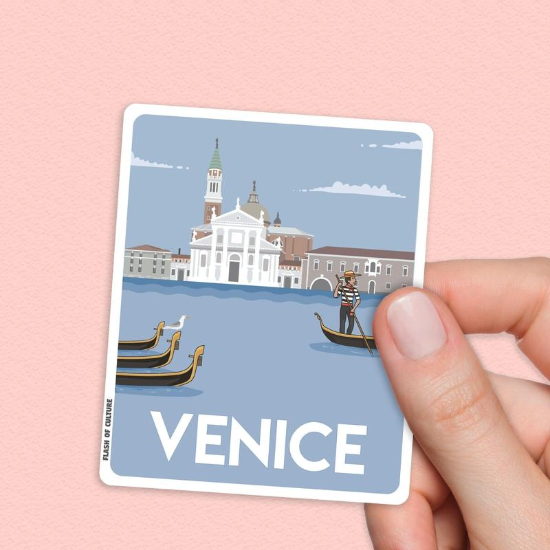 Venice Italy Sticker, Venice stickers, Italian travel stickers-Stickers-Flash of Culture™