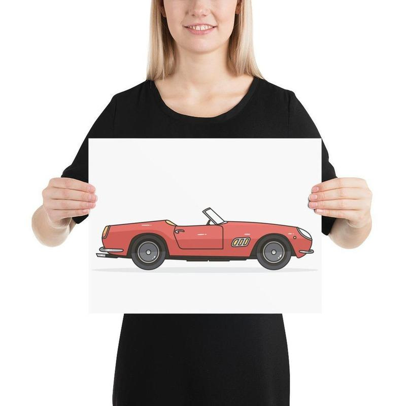 Vintage Ferrari 250 GT Poster Art-Posters-Flash of Culture™