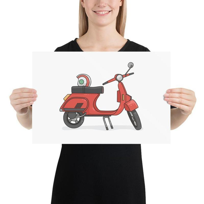Vintage Vespa Scooter Poster Art-Posters-Flash of Culture™
