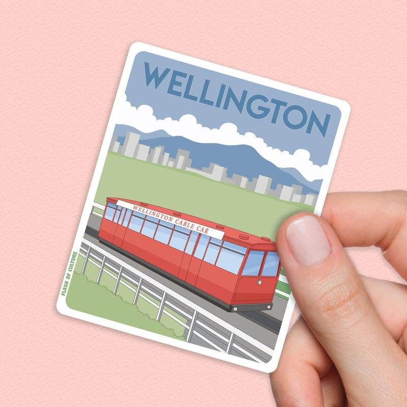Wellington New Zealand Sticker, Wellington sticker-Stickers-Flash of Culture™