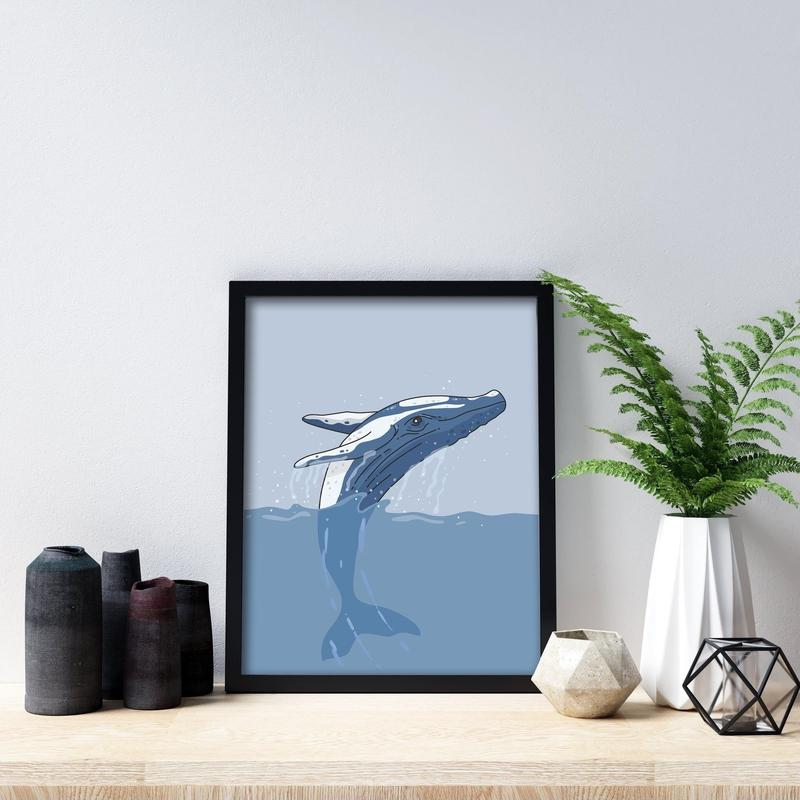 Whale Poster Art-Posters-Flash of Culture™