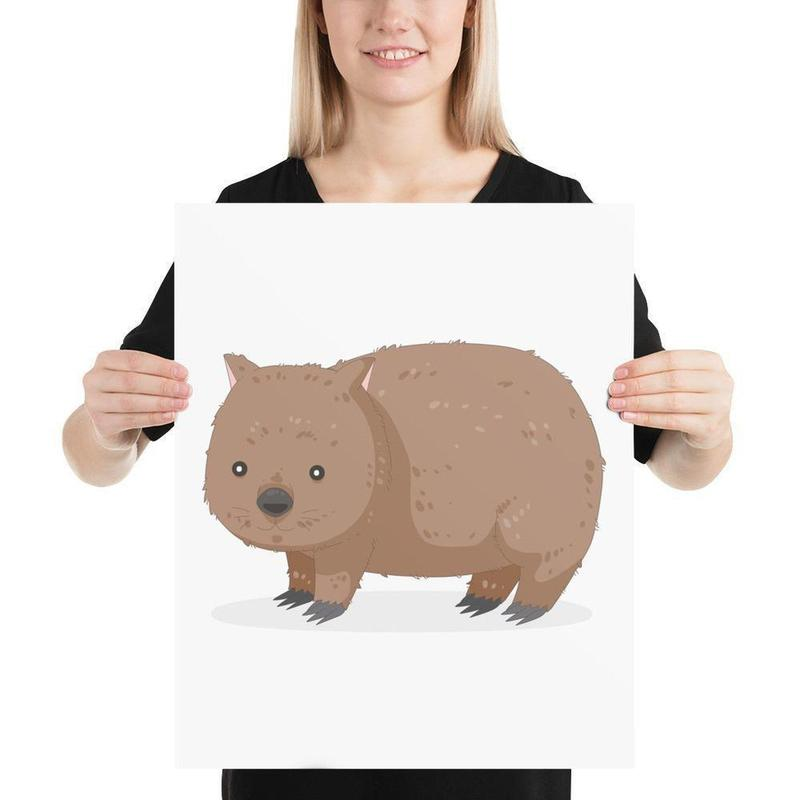 Wombat Poster Art-Posters-Flash of Culture™