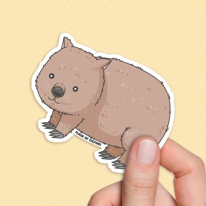 Wombat Sticker, Australian Wombat Sticker-Stickers-Flash of Culture™