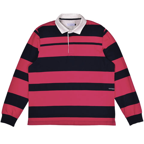 Pop Trading Company - Rugby - Pink / Navy