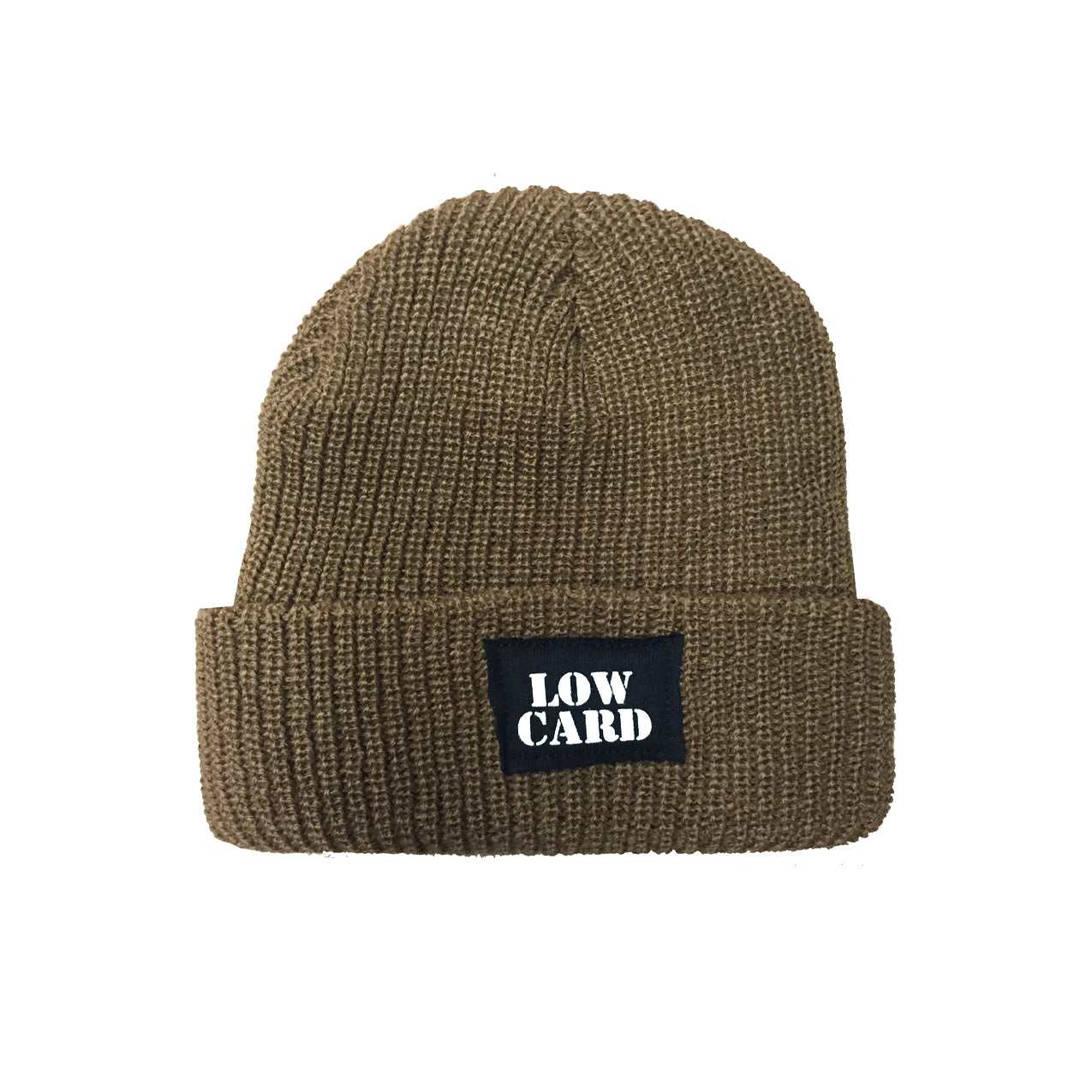 Low Card - Knit Beanie - Light Brown