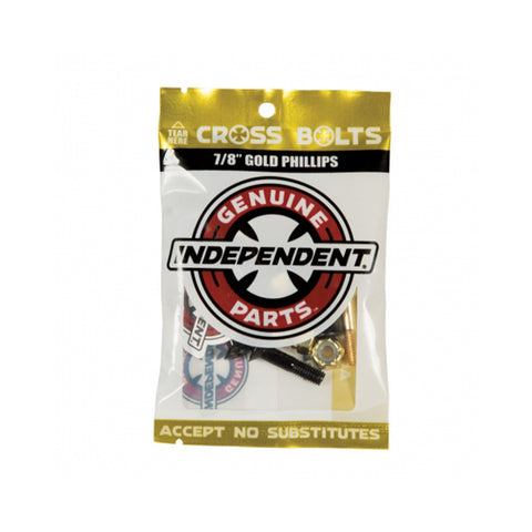 "Independent - 1"" Cross Bolts - Gold"