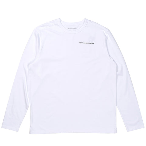 Pop Trading Company - Long Sleeve Logo - White/Black
