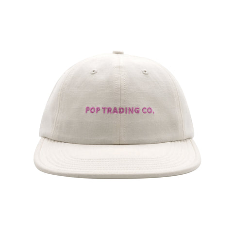 Pop Trading Company - Flex Foam 6 Panel - Off White/Pink