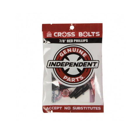 "Independent - 1"" Cross Bolts - Red"