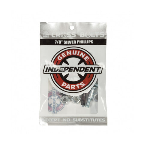 "Independent - 1"" Cross Bolts - Silver"