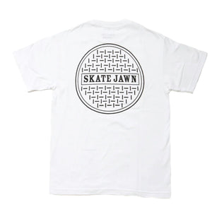 Skate Jawn - Sewer Cap T-Shirt - White