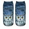 Galaxy Owl Ankle Socks - Dollar Socks Club