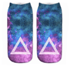Galaxy Triangle Ankle Socks - Dollar Socks Club