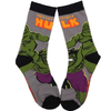 Incredible Hulk Flying Fists Crew Socks - Dollar Socks Club