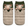 Peeking Pig Ankle Socks - Dollar Socks Club