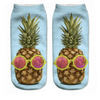 Pineapple Glasses Ankle Socks - Dollar Socks Club