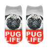 Pug Life Ankle Socks - Dollar Socks Club