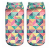Triangle Pattern Ankle Socks - Dollar Socks Club