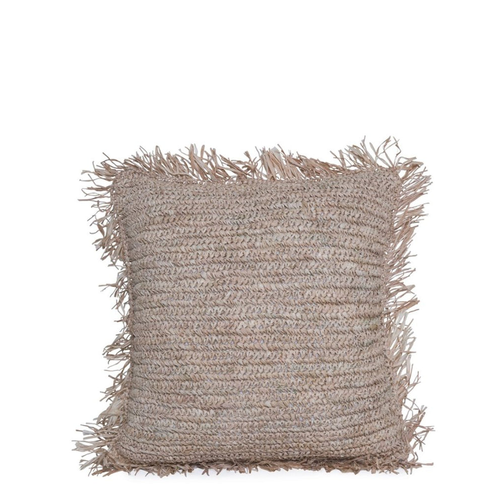 RAFIA CUSHION COVER / NATURAL WITH FRINGE