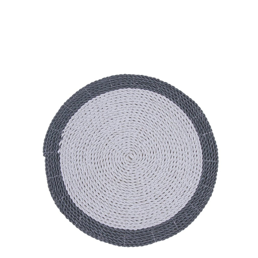 SEAGRASS PLACEMAT / GREY WITH WHITE