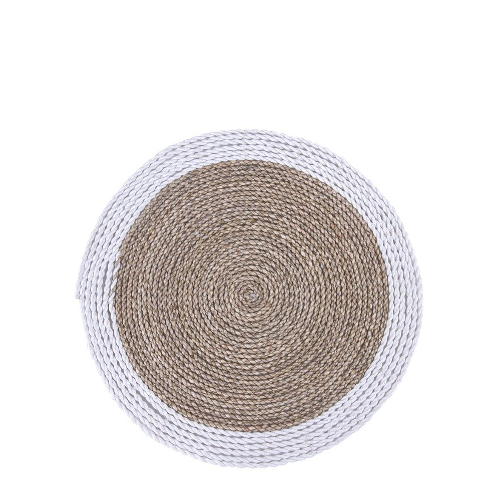 SEAGRASS PLACEMAT / WHITE WITH NATURAL
