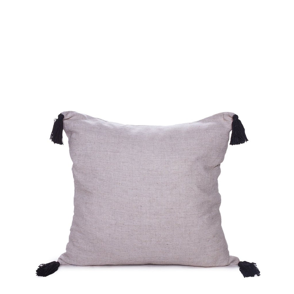 TASSEL CUSHION COVER NATURAL