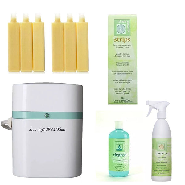 SET DE DEPILACION PERSONAL CERA DE SOYA EXCLUSIVE - The Shaving Mayoreo