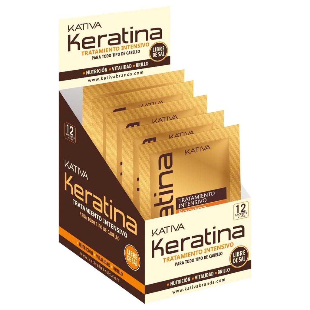 KATIVA KERATINA TRAT HIDR PR 35 GR X 12 - The Shaving Mayoreo