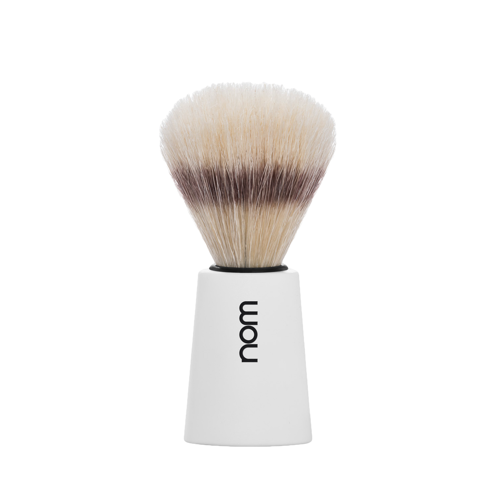 NOM Brocha de Afeitar Jabali 21mm Blanca - The Shaving Mayoreo