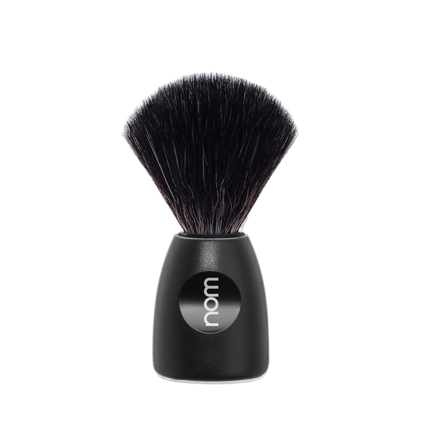 NOM Brocha de Afeitar Sintetica  21mm Negra - The Shaving Mayoreo
